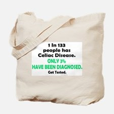 1 In 133 Has Celiac Disease 1.3 Tote Bag