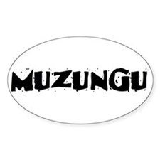 Muzungu Oval Decal