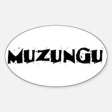 Muzungu Oval Decal
