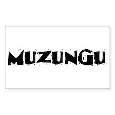 Muzungu Rectangle Decal