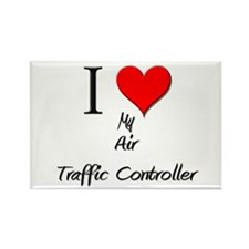 I Love My Air Traffic Controller Rectangle Magnet