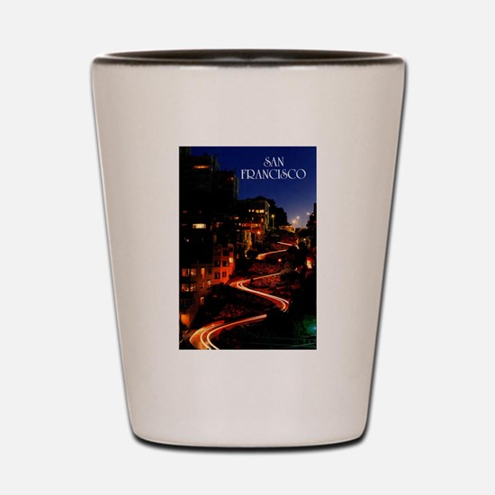 Lombard Street San Francisco Shot Glass
