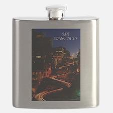 Lombard Street San Francisco Flask