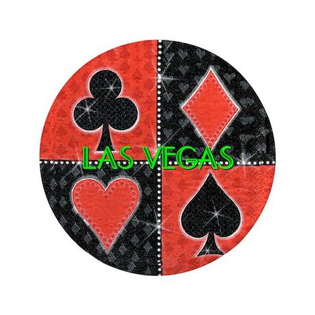 "Las Vegas Cards 1 3.5"" Button"
