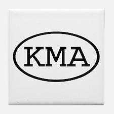 KMA Oval Tile Coaster