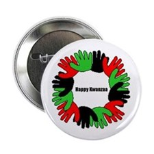 """Happy Kwanzaa 2.25"""" Button"""