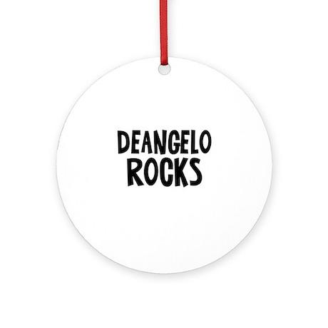 Deangelo Rocks Ornament (Round)