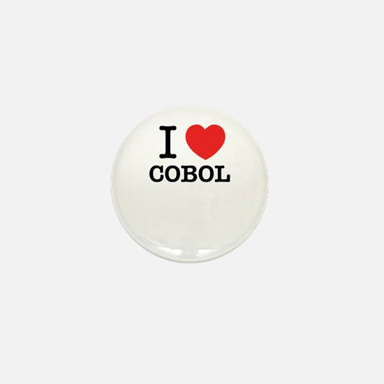 I Love COBOL Mini Button