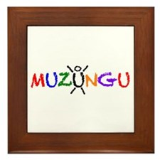 Happy Muzungu Framed Tile