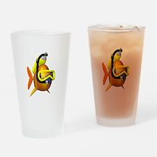 Scuba Fish Drinking Glass