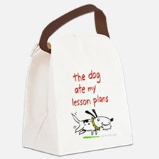 Dog Ate Lesson Plans 2 Canvas Lunch Bag