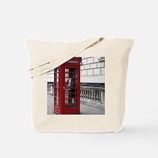 Unique Red phone box Tote Bag