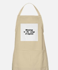 Blessings  to  the  Lango of  BBQ Apron