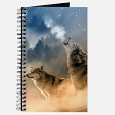 Wolves Howling at moon Journal