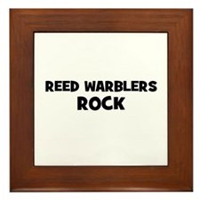 Reed Warblers Rock Framed Tile