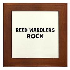 Reed Warblers Rock Framed Tile