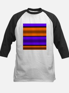 Orange & Purple Horizontal Stripes Baseball Jersey