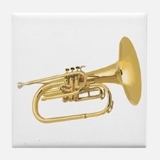 Horn Brass Tile Coaster