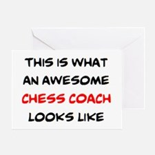awesome chess coach Greeting Card