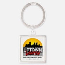 Cute Salon Square Keychain