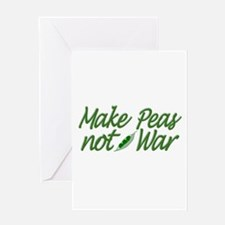 Make Peas not War Greeting Card