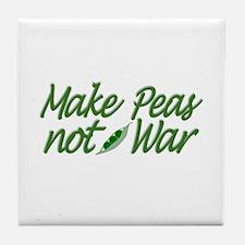 Make Peas not War Tile Coaster