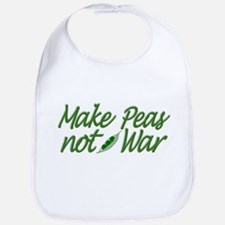 Make Peas not War Bib