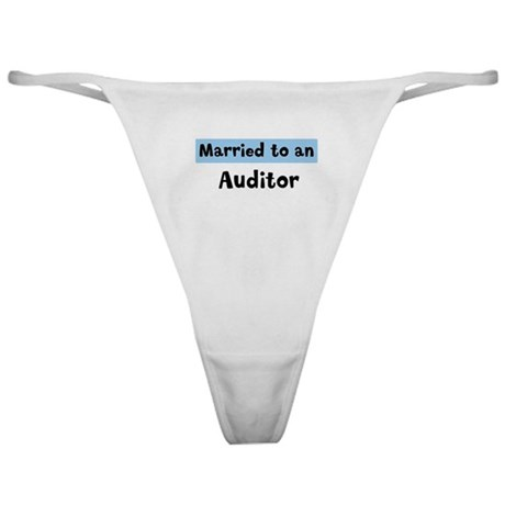 Married to: Auditor Classic Thong