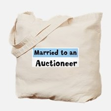 Married to: Auctioneer Tote Bag