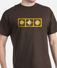 Sun Faces With Pagan Runes T-Shirt