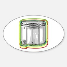 Marching Snare Drum Neon Oval Decal
