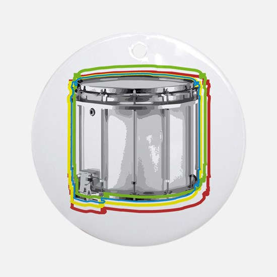 Marching Snare Drum Neon Ornament (Round)