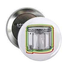 """Marching Snare Drum Neon 2.25"""" Button (10 pack)"""