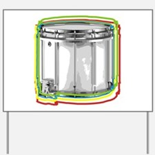 Marching Snare Drum Neon Yard Sign