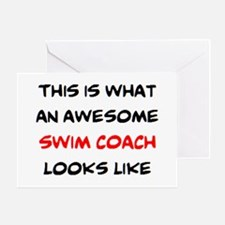 awesome swim coach Greeting Card