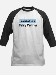 Married to: Dairy Farmer Kids Baseball Jersey