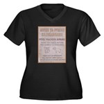 Poachers Beware Women's Plus Size V-Neck Dark T-Sh
