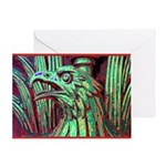 Eagle Psychedelic Greeting Card
