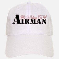 Heart Belongs To A Airman Baseball Baseball Cap