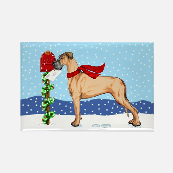 Great Dane Fawn UC Mail Rectangle Magnet