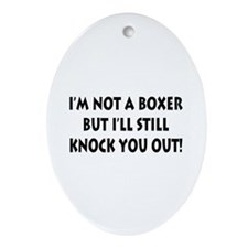 Anesthesia Knock Out Oval Ornament