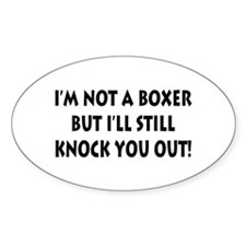 Anesthesia Knock Out Oval Decal