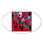 USA Stars Psychedelic Flag Oval Sticker