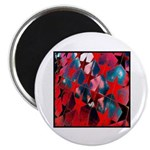 """USA Stars Psychedelic Flag 2.25"""" Magnet (10 pack)"""