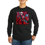 USA Stars Psychedelic Flag Long Sleeve Dark T-Shir