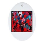 USA Stars Psychedelic Flag Oval Ornament