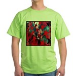 USA Stars Psychedelic Flag Green T-Shirt