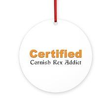 Cornish Rex Addict Ornament (Round)