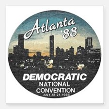"""DNC1988faded.png Square Car Magnet 3"""" x 3"""""""
