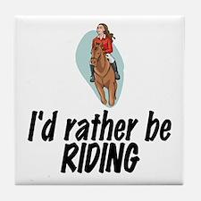 SportChick EquestrianChick Rather Tile Coaster